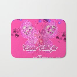 Power Pink for a Cure - The Wings of Faith Bath Mat