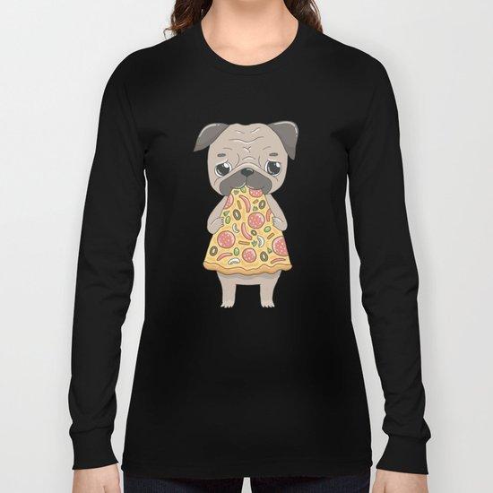 Pizza Pug Long Sleeve T-shirt
