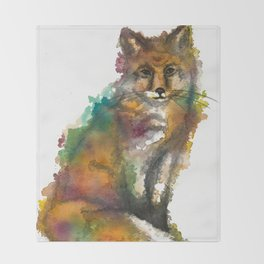 Nature Fox Throw Blanket