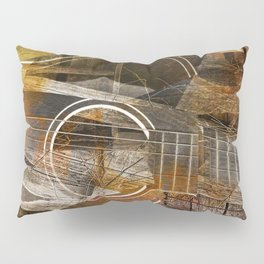 Abstract Cubist Style Guitar Pillow Sham