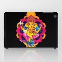 ganesh iPad Cases featuring Ganesh by missfortunetattoo