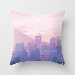 Sleeping City Throw Pillow