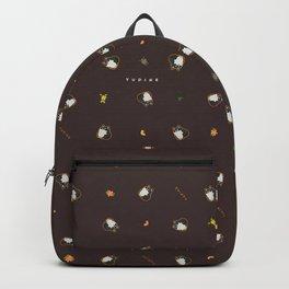 Black Shiba Pattern Backpack