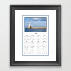 Lighthouse 2013 Calendar Framed Art Print