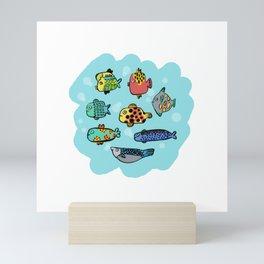Fish Portrait in Sea Mini Art Print