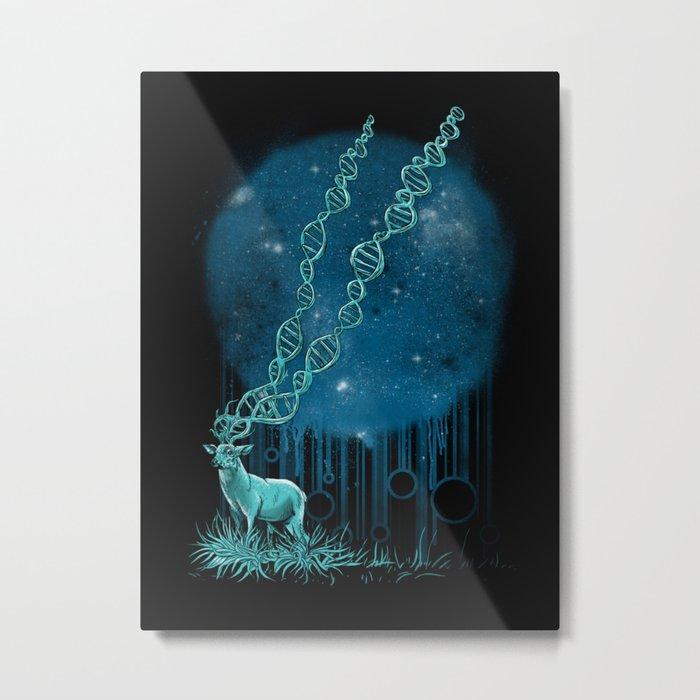 DNA Deer Metal Print