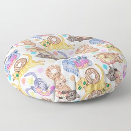 Sprinkles on Donuts and Whiskers on Kittens Floor Pillow