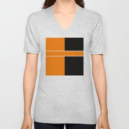 Team Colors 6....Orange,black Unisex V-Neck