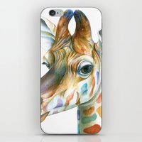 kindle iPhone & iPod Skins featuring Giraffe by Brandon Keehner