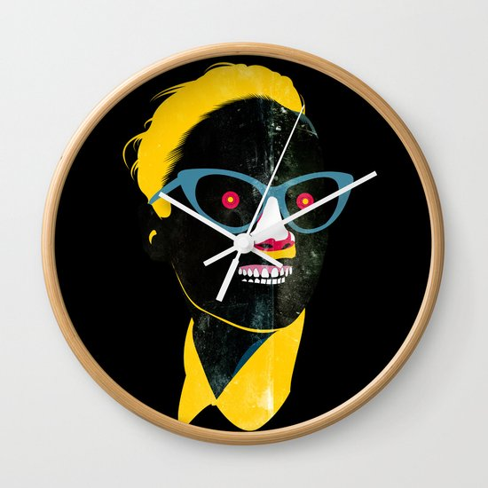 Smile in black Wall Clock