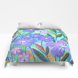 Blue Flax 1 Comforters