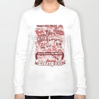 liverpool Long Sleeve T-shirts featuring Liverpool by leeann walker illustration