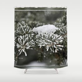 Snowy Evergreen Shower Curtain