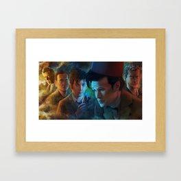 Clock Strikes Twelve Framed Art Print