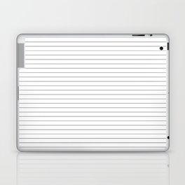 White Black Lines Minimalist Laptop & iPad Skin