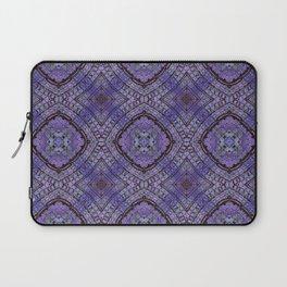 Purple Zen Doodle Pattern Laptop Sleeve