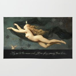 """""""Fly me to the moon"""" Rug"""