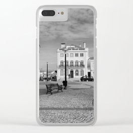 Nazare Plaza - BW Clear iPhone Case
