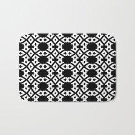 Repeating Circles Black and White Bath Mat