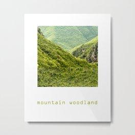 Mountain Woodland Metal Print