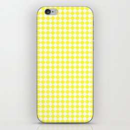 White and Electric Yellow Diamonds iPhone Skin