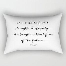 SHE IS - B & W Rectangular Pillow