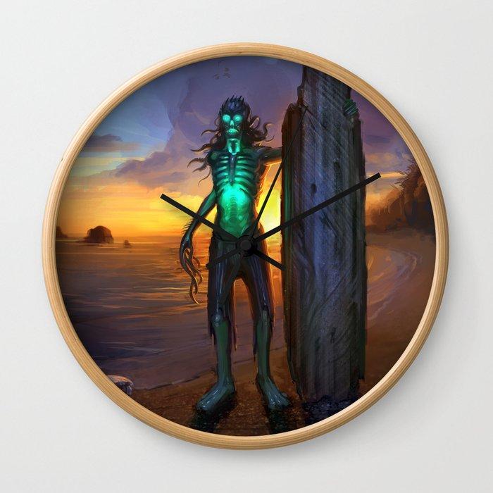 Toxic Surfer Wall Clock