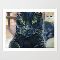 Totoro the cat Art Print