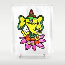 Ganesha by Elisavet Shower Curtain