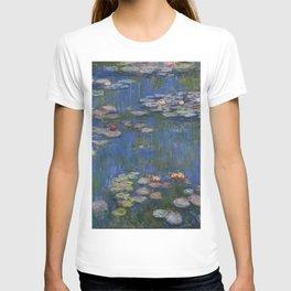WATER LILIES - CLAUDE MONET T-shirt