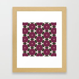 Peony Geometric Pattern Framed Art Print