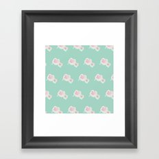 Dope Floral Teal Framed Art Print