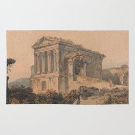 Tempio di Clitumno, Rome, after Piranesi Rug