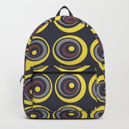 Yellow Blue Red Grey Circle Dot Pattern Pantone 2021 Color of the Year Illuminating & Ultimate Gray Backpack