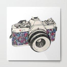 Camera Art Metal Print
