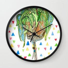 Confetti Macrame Wall Clock