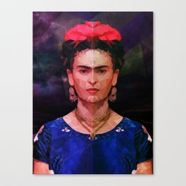 FRIDA KAHLO GEOMETRIC PORTRAIT Canvas Print