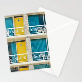 Retro Hotel Print Stationery Cards