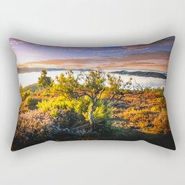 morning lights in the Basque mountains Rectangular Pillow