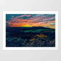 ANOTHER DAY OVER Art Print