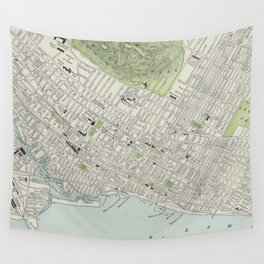 Vintage Map of Montreal (1901) Wall Tapestry