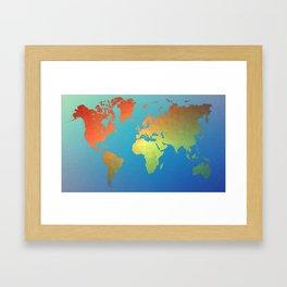 Poly Map Framed Art Print