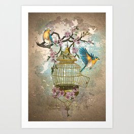Birds were meant to fly Art Print