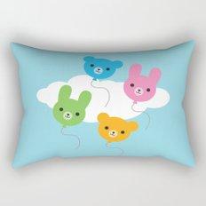 Kawaii Animal Balloons Rectangular Pillow