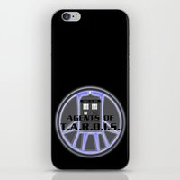 agents of shield iPhone & iPod Skins featuring Agents of TARDIS Doctor Who Agents of Shield Mash Up by Whimsy and Nonsense