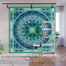 Sacred Places Green Wall Mural
