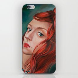 Red-Haired iPhone Skin