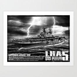 Amphibious assault ship Peleliu Art Print