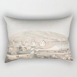 Vintage Pictorial Map of San Francisco CA (1849) Rectangular Pillow