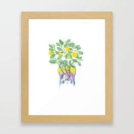 Lemon Insides Framed Art Print